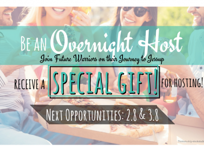 Become an Overnight Host and Welcome Future Warriors!