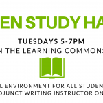 Open Study Hall – Available for All Students