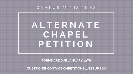 Submit Your Alternate Chapel Petition