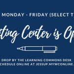The Writing Center is Open!
