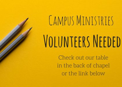 Volunteer with Campus Ministries