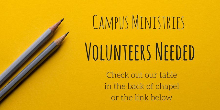 Volunteer with Campus Ministries