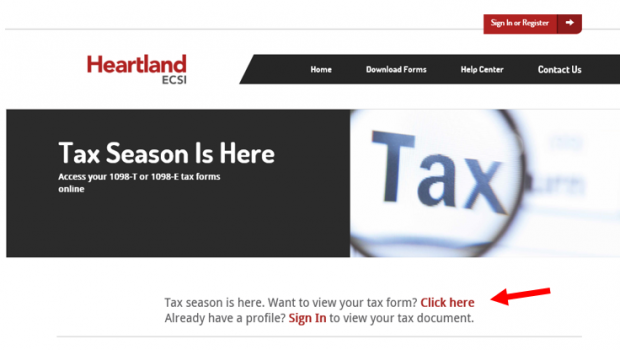 Tax Season – Access Your 2018 1098-T
