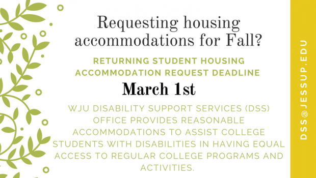 Housing Accommodations Request Deadline March 1st