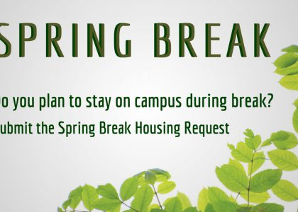 Spring Break Housing