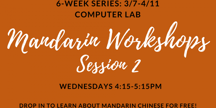 Beginning Mandarin Session 2 – Starts this Wed!