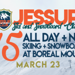 All day + night skiing and snowboarding at Boreal mountain
