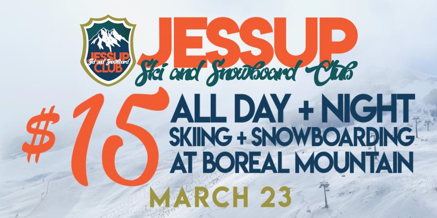 All day + night skiing and snowboarding at Boreal mountain