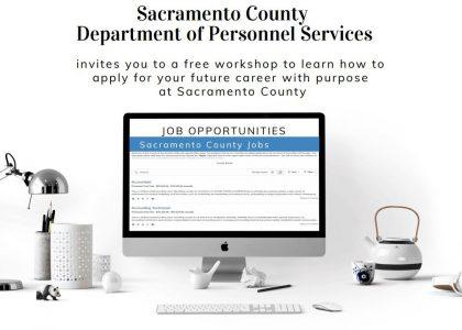 Sacramento County Dept. of Personnel hosts career application workshop