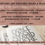 Career Courses Now Open for FALL 2018