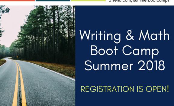 Writing & Math Summer Boot Camp – Register Now!