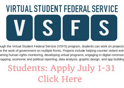 Now accepting applications: Virtual Student Federal Assistant