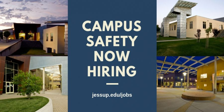 Campus Safety – NOW HIRING student assistants/security officers