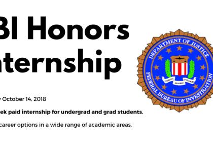 Apply for FBI Honors Internship Program by October 14