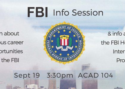 FBI Info Session – Sept. 19
