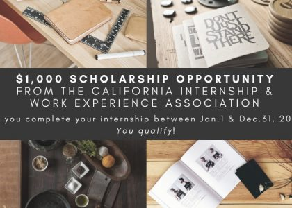 "$1,000 Scholarship Opportunity ""How My Internship Has Influenced My Career Choice"""