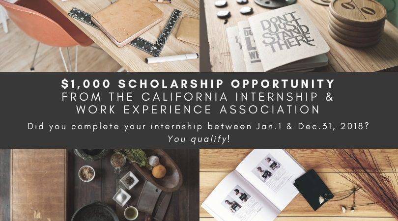 "$1,000 Scholarship Opportunity ""How My Internship Has Influenced My Career Choice"""