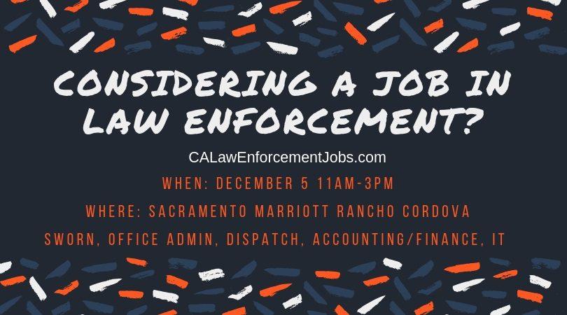 Law Enforcement Hiring Event – December 5