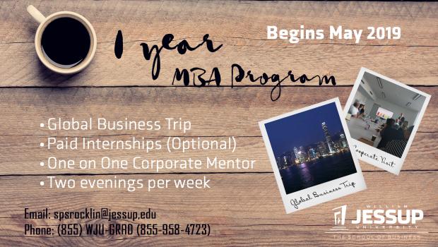 1Year MBA Program