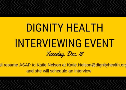Dignity Health Interviewing Event