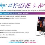 KLOVE & Air-1 Now Recruiting for PAID Summer Internships