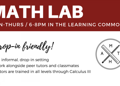 Join us for Math Lab!