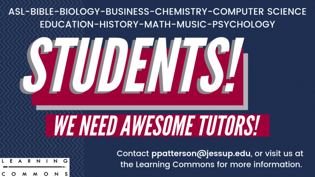 Student Tutors Needed!