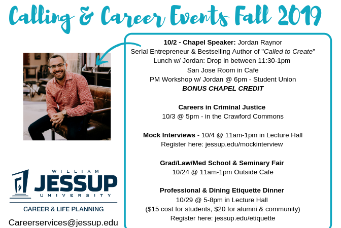 Calling & Career: Fall 2019 Events