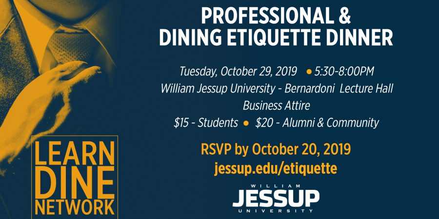 Professional & Dining Etiquette Dinner – RSVP by 10/20