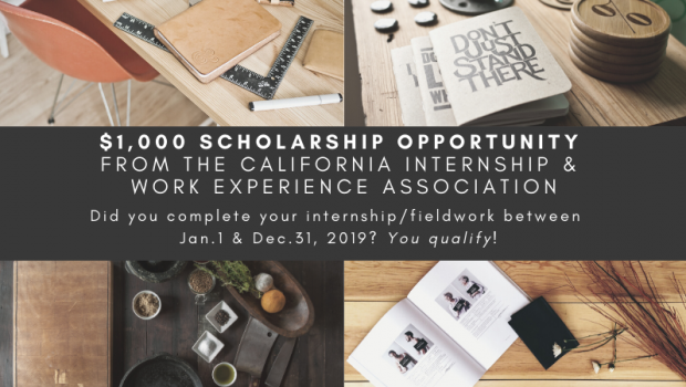 $1,000 Scholarship opportunity! Did you complete an internship in 2019? Apply today!