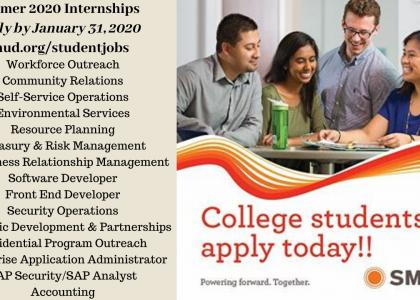 Summer 2020 Internships – SMUD now recruiting!