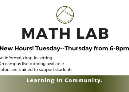 On Campus Math Lab Available