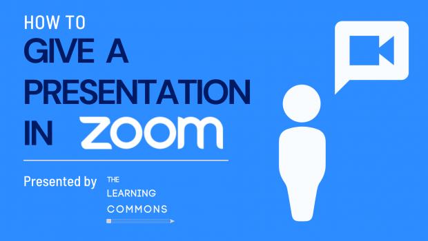Presenting in Zoom