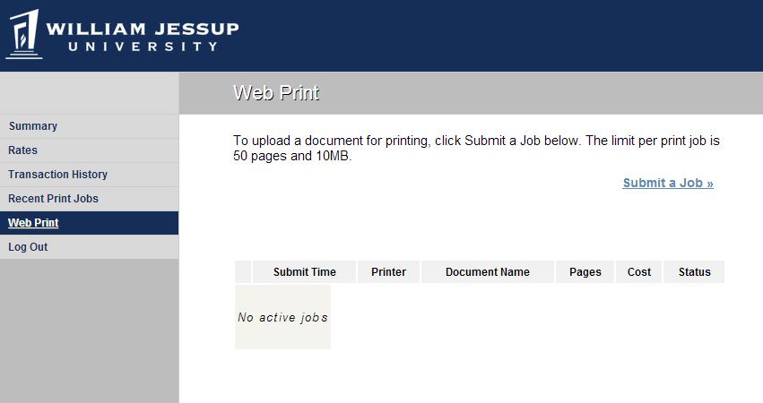 Web Print Tutorial