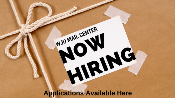 WJU Mail Center Is Hiring