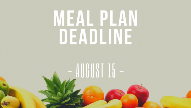 Meal Plan Deadline