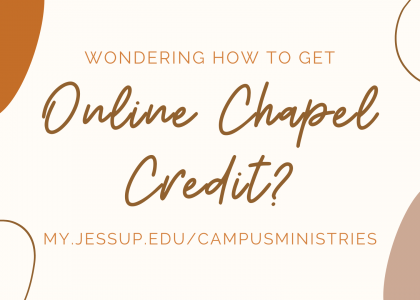 Online Chapel Credit Process