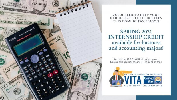 SP21 Internship Opportunity – VITA Income Tax Program