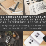 Complete an Internship in 2020? Apply for $1,000 Scholarship by 1/22/21!