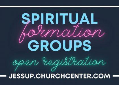 Spiritual Formation Groups Open Registration