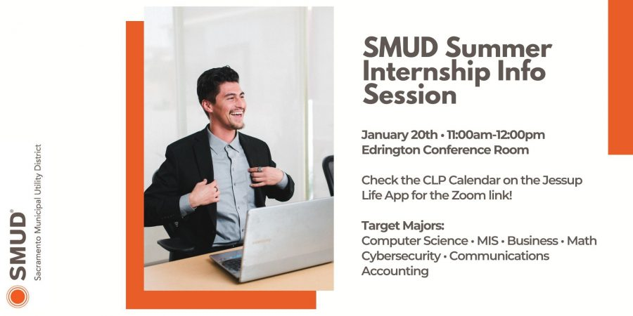 SMUD Summer 2021 Internships – Accepting applications thru Jan. 31 (Info session 1/20 @11am)